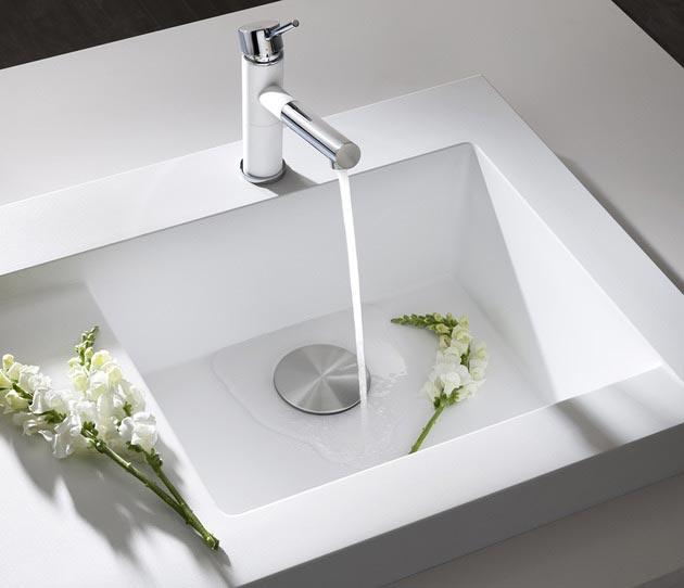 Raised Kitchen Sink Workstation Dual Draining Modex Blanco