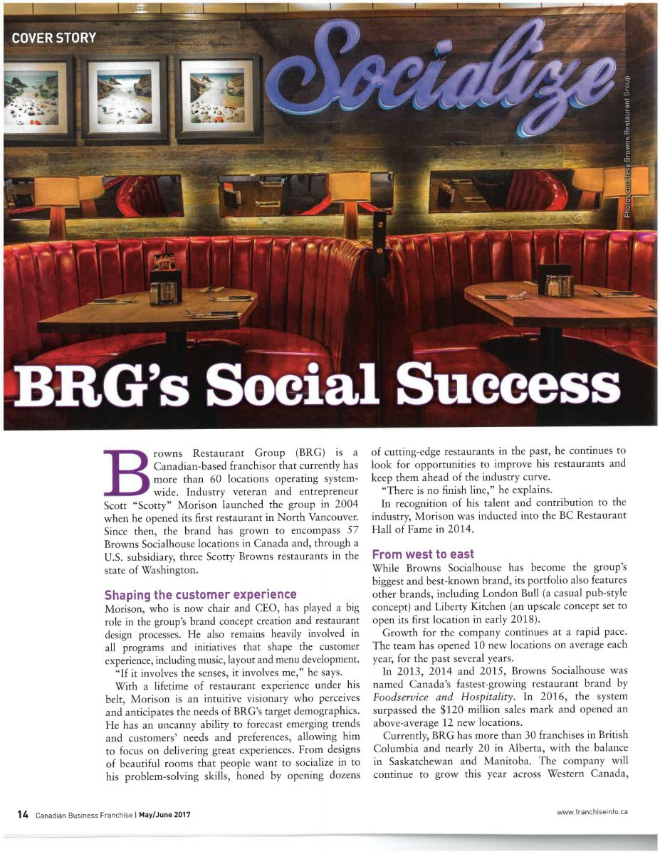 Canadian Business Features Browns Socialhouse Success