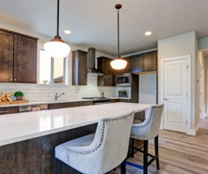 Norburn Lighting and bathe kitchen