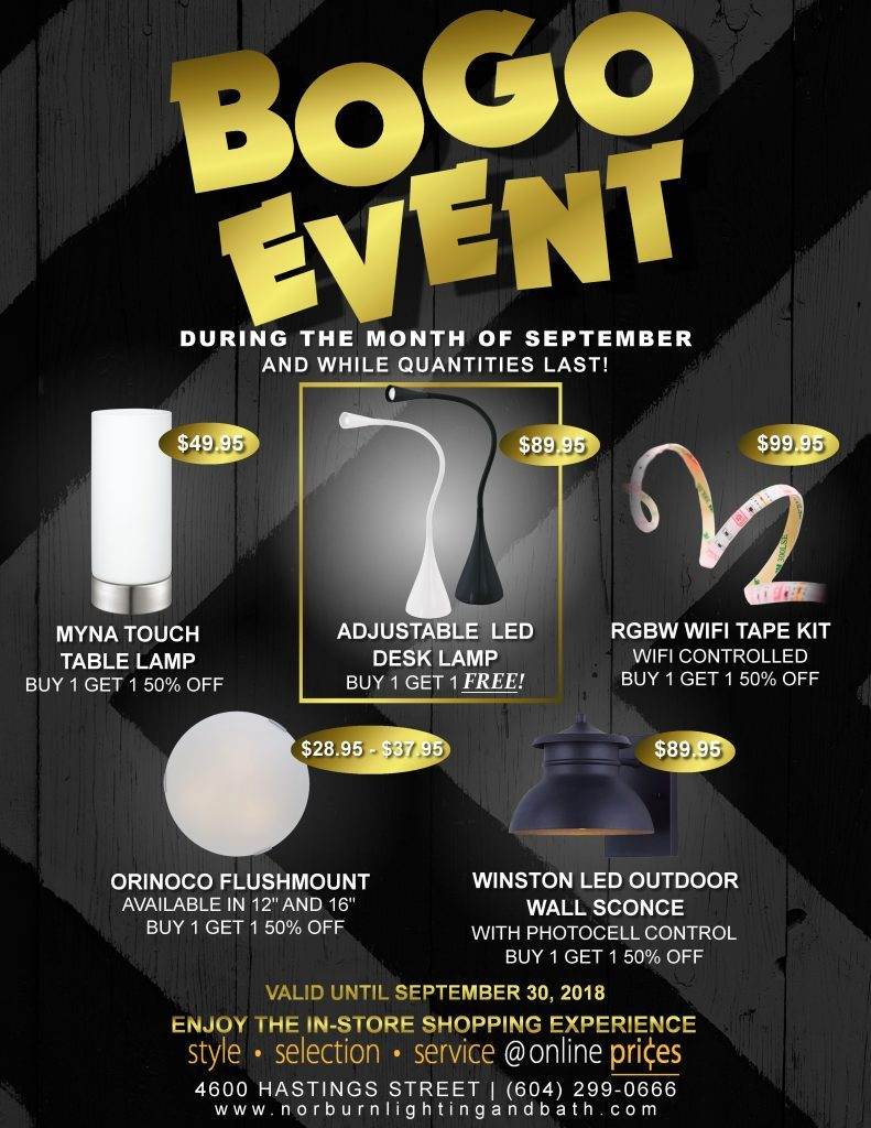 Norburn, BOGO EVENT