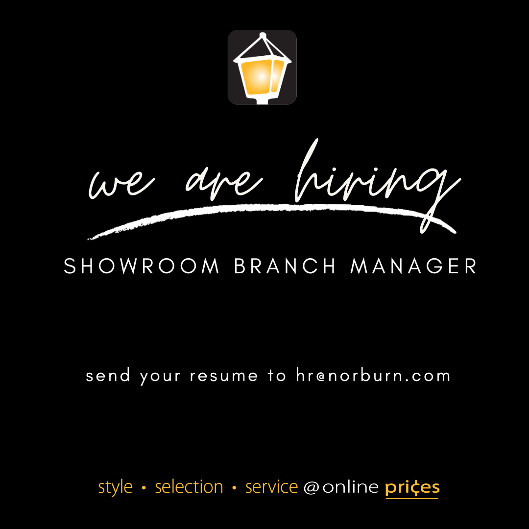 We Are Hiring – Showroom Branch Manager