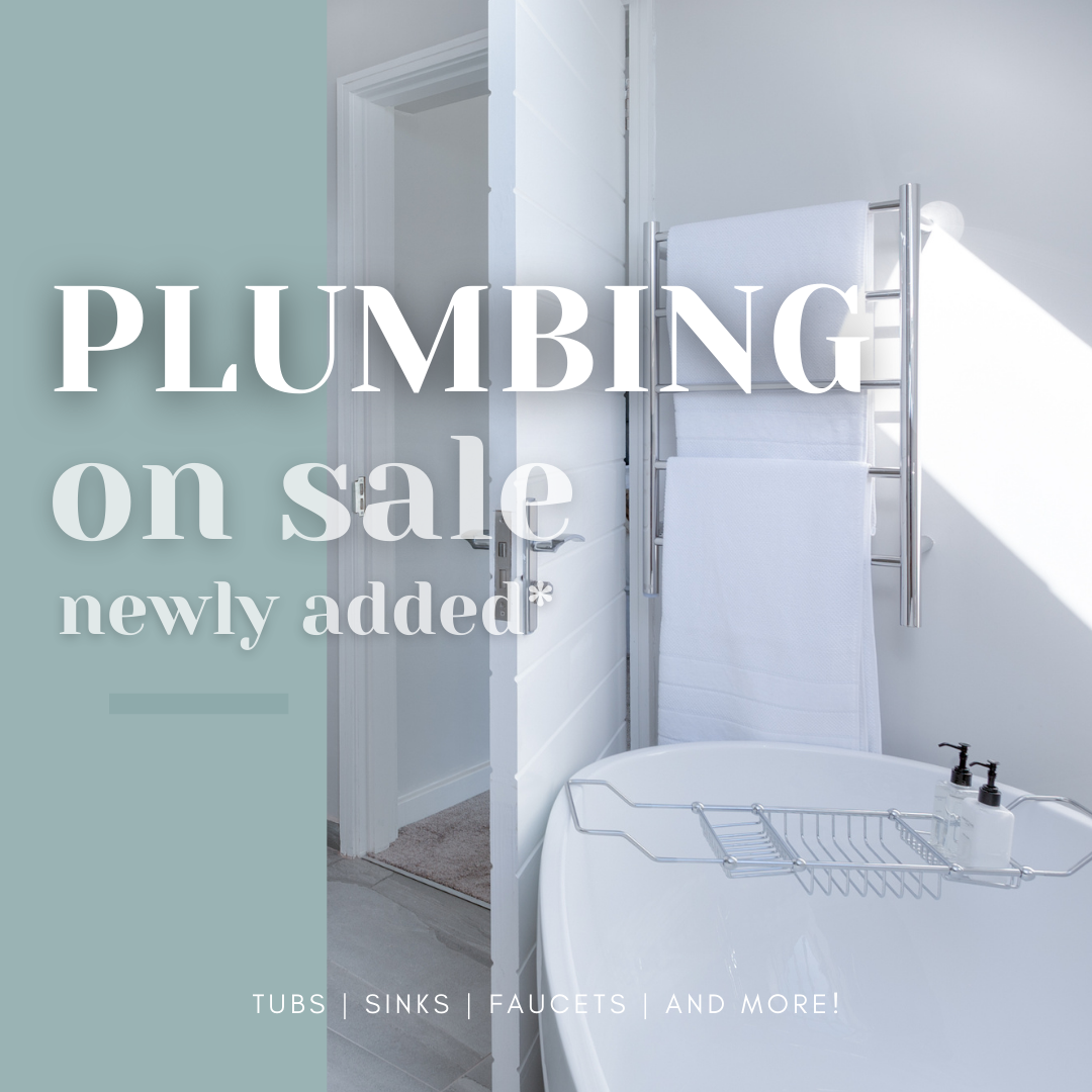 More Plumbing Items On Sale!